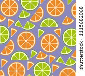 citrus fruits sliceds pattern...   Shutterstock .eps vector #1115682068