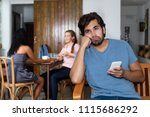sad and lonely hipster man... | Shutterstock . vector #1115686292