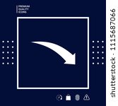 arrow down icon   Shutterstock .eps vector #1115687066