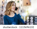 young smiling business woman... | Shutterstock . vector #1115696132