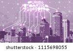 smart city wireless... | Shutterstock . vector #1115698055