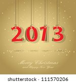 happy new year 2013 gold and... | Shutterstock .eps vector #111570206