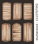 wooden stickers label... | Shutterstock .eps vector #1115707592