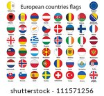 set of round buttons with flags