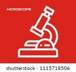 microscope icon vector  | Shutterstock .eps vector #1115718506