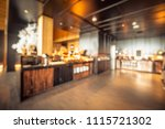 abstract blur coffee shop and... | Shutterstock . vector #1115721302