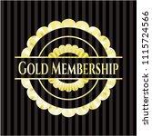 gold membership shiny badge | Shutterstock .eps vector #1115724566