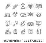 education icons  vector | Shutterstock .eps vector #1115726312