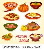 mexican cuisine restaurant...   Shutterstock .eps vector #1115727635
