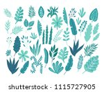 a big set of hand drawn... | Shutterstock .eps vector #1115727905