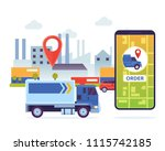 modern urban city cargo...   Shutterstock .eps vector #1115742185