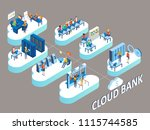 cloud bank concept. vector... | Shutterstock .eps vector #1115744585