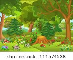 fairytale forest | Shutterstock .eps vector #111574538
