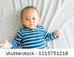top view of cute adorable one...   Shutterstock . vector #1115751218