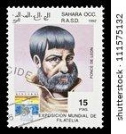 sahara   circa 1992  a stamp... | Shutterstock . vector #111575132