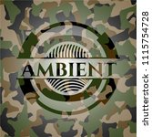 ambient on camo pattern | Shutterstock .eps vector #1115754728