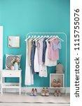 stylish dressing room interior... | Shutterstock . vector #1115755076