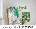 stylish dressing room interior... | Shutterstock . vector #1115755082