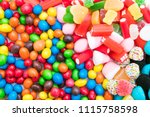 background of sweets and... | Shutterstock . vector #1115758598