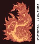 flame. hand drawn engraving.... | Shutterstock .eps vector #1115759855