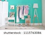 stylish dressing room interior... | Shutterstock . vector #1115763086