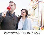 beautiful middle age tourist... | Shutterstock . vector #1115764232