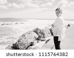 black and white view of... | Shutterstock . vector #1115764382