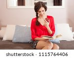 healthy middle age beautiful... | Shutterstock . vector #1115764406