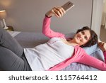 beautiful middle age woman... | Shutterstock . vector #1115764412