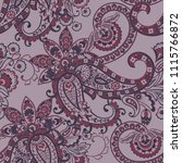 paisley ethnic seamless pattern ... | Shutterstock .eps vector #1115766872