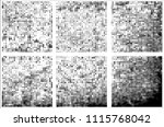 set of grunge textures black... | Shutterstock .eps vector #1115768042