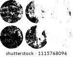 set of grunge textures in black ... | Shutterstock .eps vector #1115768096