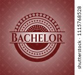bachelor realistic red emblem   Shutterstock .eps vector #1115768528