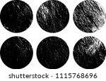 set of grunge textures in black ... | Shutterstock .eps vector #1115768696