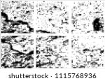 set of grunge textures black... | Shutterstock .eps vector #1115768936