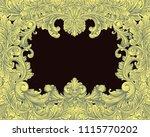 victorian baroque floral... | Shutterstock .eps vector #1115770202