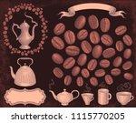 coffee house. design set. hand... | Shutterstock .eps vector #1115770205