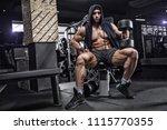 closeup portrait of a muscular... | Shutterstock . vector #1115770355
