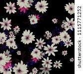 small daisy flowers. delicate... | Shutterstock .eps vector #1115771252