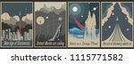 retro futurism space propaganda ... | Shutterstock .eps vector #1115771582