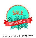 best sale promotional emblem... | Shutterstock .eps vector #1115772578
