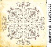 retro baroque decorations... | Shutterstock .eps vector #1115782022