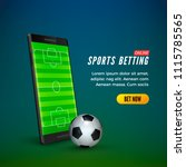 sports betting online web... | Shutterstock .eps vector #1115785565