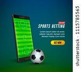 sports betting online web... | Shutterstock .eps vector #1115785565