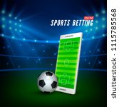 sports betting online web... | Shutterstock .eps vector #1115785568