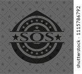 sos realistic black emblem | Shutterstock .eps vector #1115786792