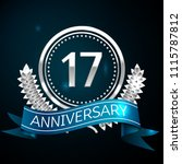 realistic seventeen years... | Shutterstock .eps vector #1115787812