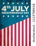 4th of july. concept background. | Shutterstock . vector #1115788418