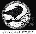 Black Crow Sitting On A Branch...
