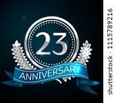 realistic twenty three years... | Shutterstock .eps vector #1115789216